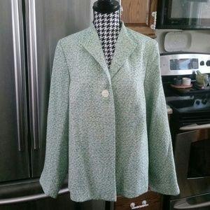 Sag Harbor Petite Blue & Green Blazer Size 14P